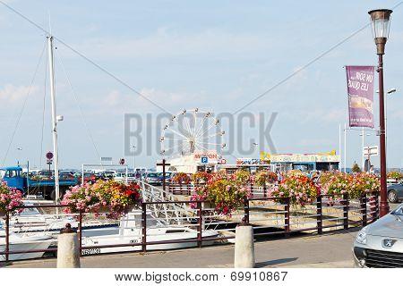 Quai Du Port Ciguet In Le Croisic Town, France
