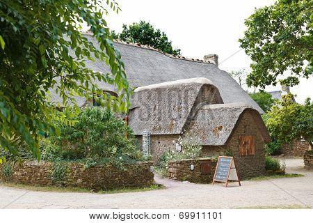 Old Bygone Typical Rural Wooden House, France