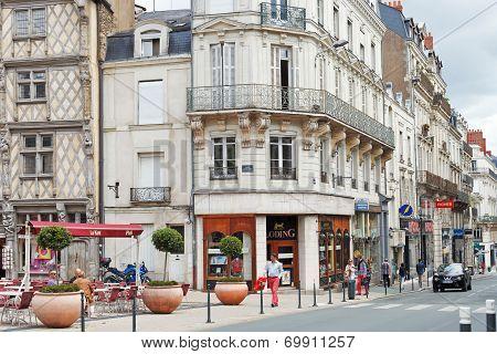 Rue St Aubin Street In Angers, France