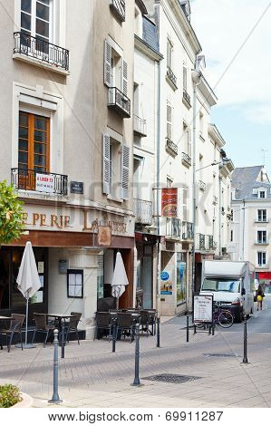 Rue Montauet Street In Angers, France