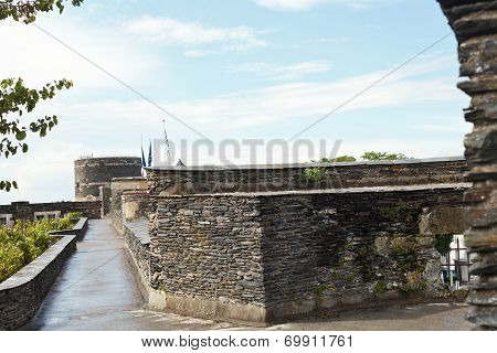 On Top Of The Castle Walls In Angers Castle France