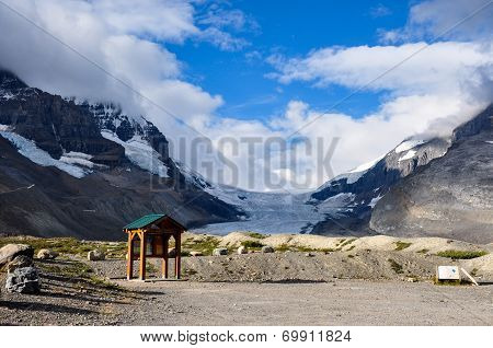 Athabaska Glacier On Icefield Parkway In All It's Splendeur, Alberta, Canada