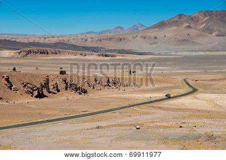Road To Paso De Jama In North Chile