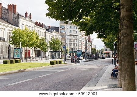 Boulevard Du Marechal Street In Angers, France