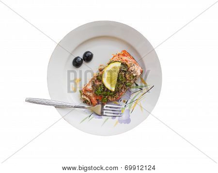 Salmon Fillet On The Plate
