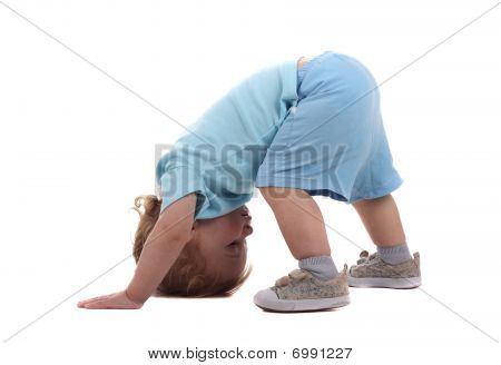 Little Boy Upside-down