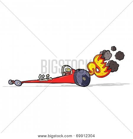 cartoon drag racer