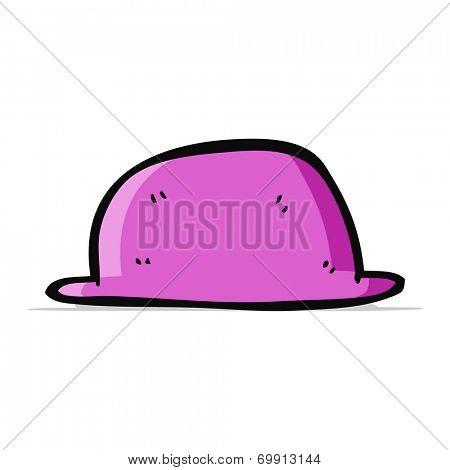 cartoon pink bowler hat