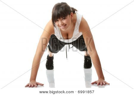 Young Beautiful Woman During Fitness