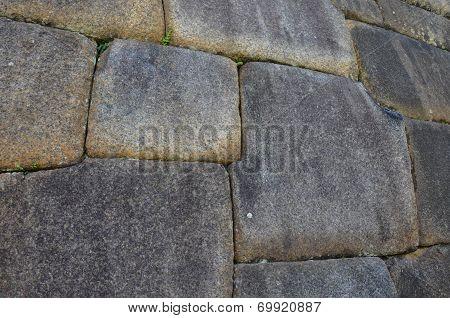 Huge Blocks Sculpted By Incas, Machu Picchu, Peru