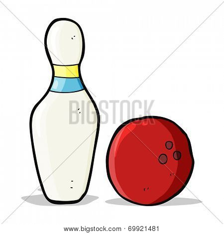 cartoon skittle and bowling ball