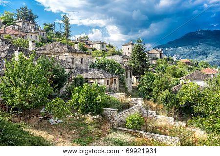 The Picturesque Village Of Aristi In Zagori Area, Northern Greece