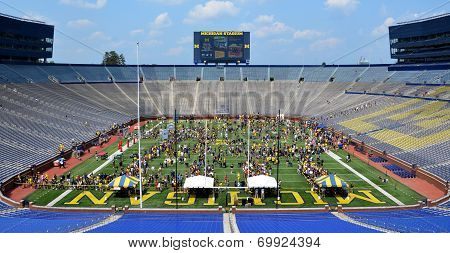 Michigan Football Youth Day Crowd