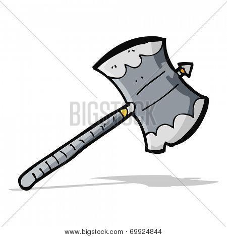 cartoon battle axe