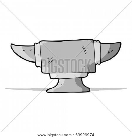 cartoon blacksmith anvil