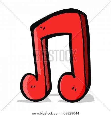 cartoon music note