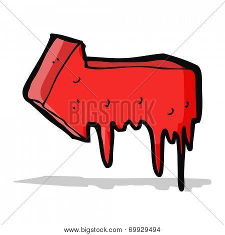 cartoon bloody pointing arrow