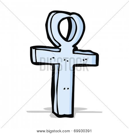 cartoon ankh symbol