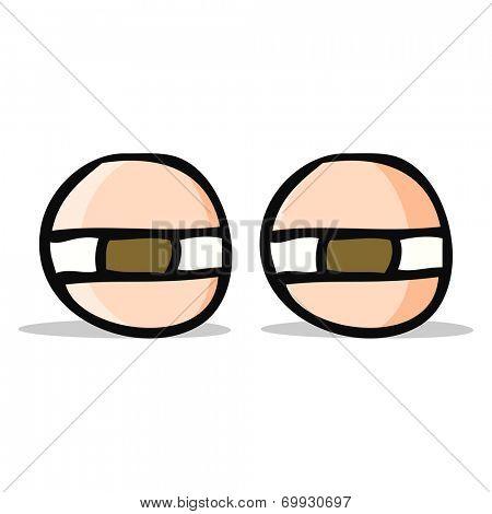 cartoon suspicious eyes