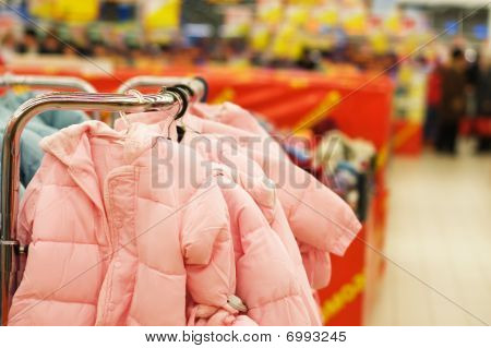 Children Clothes Sale In A Supermarket