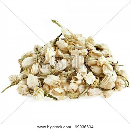 Heap pile of Jasmine Flowers Buds isolated on white background