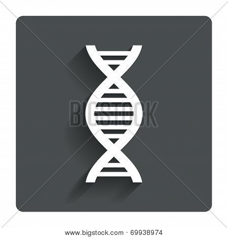 DNA sign icon.