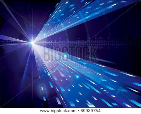 Abstract technology background in blue. Raster.