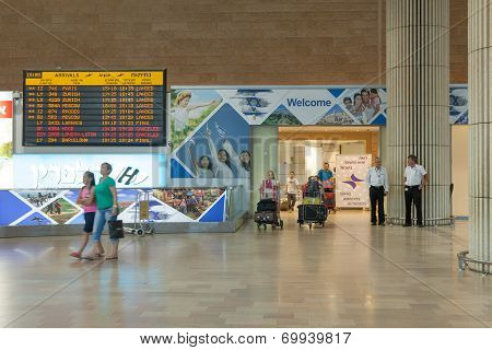 Terminal 3 Arrival hall at Israel's Ben Gurion international airport