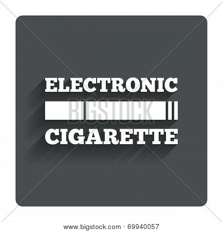 Smoking sign icon. E-Cigarette symbol.