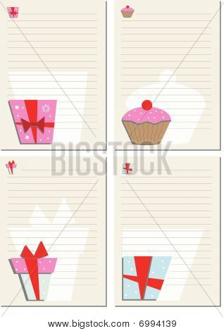 Template for note paper set 1