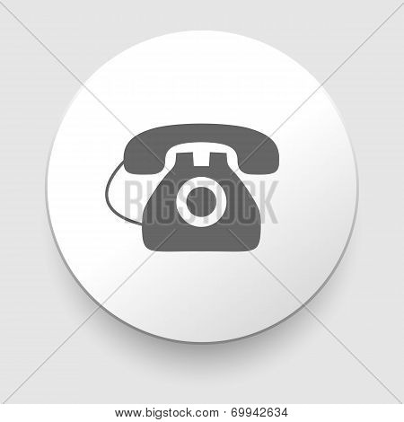 Image of a vintage telephone isolated