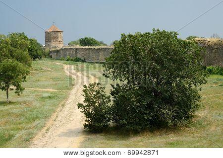 Maiden Tower In Old Turkish Fortress Akkerman On The River Dniester In Belgorod-dnestrovsky, Ukraine