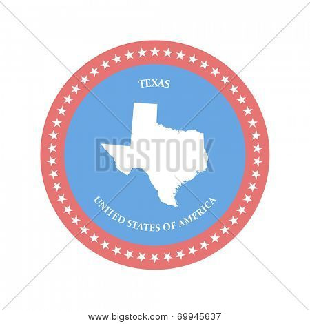 Texas. United states. Vector illustration. eps8