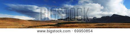 Panorama of Cuilin Mountains, Island of Skye, Scotland, Europe