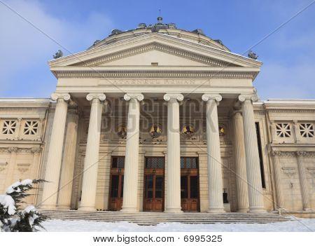 Romanian Athenaeum In Winter