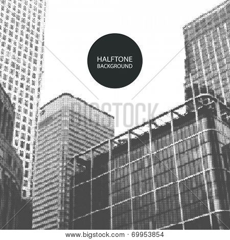 Halftone Background Design - Canary Wharf London