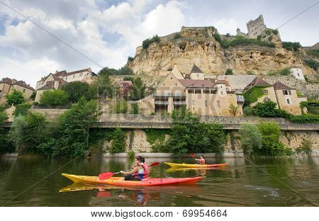 Kayaking On The River Dordogne