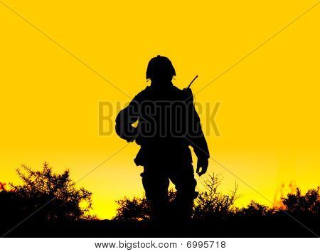 Soldat silhouette