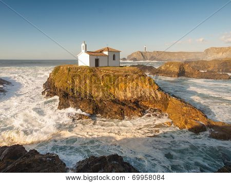 Little Chapel In Galician Coast