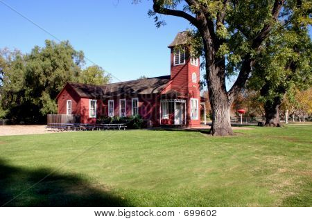 Red Schoolhouse Side View