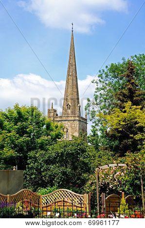 Church spire, Burford.