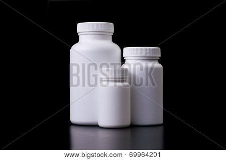 Supplements, medications or vitamin bottles