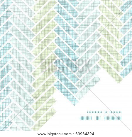 Abstract textile stripes parquet frame corner pattern background