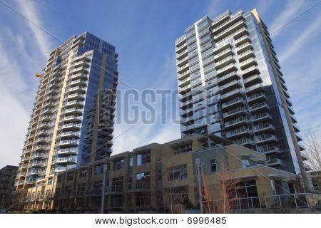 High rises buildings.