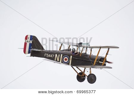SE5A Biplane in flight