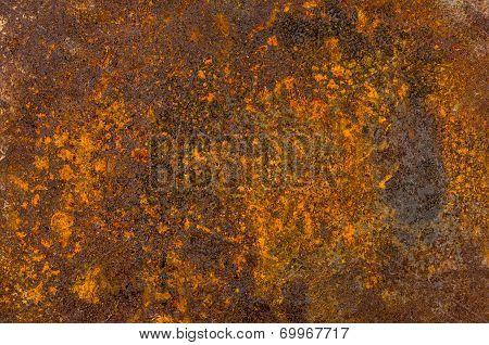 Macro shot of old rusty sheet metal