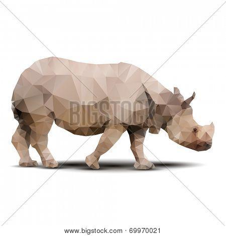 polygonal rhinoceros