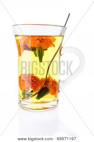 Tonic Tea With Marigolds