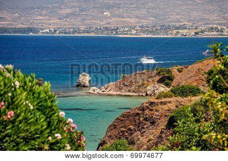 Summer Sea Coast On Cyprus