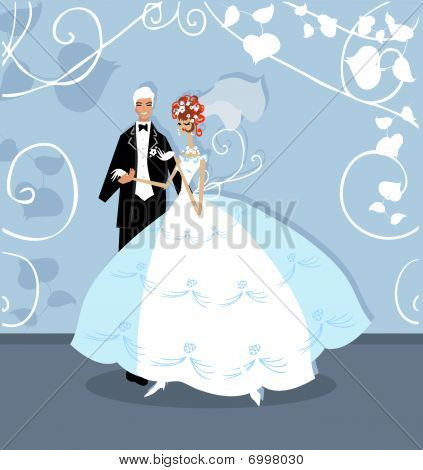 Wedding Graphic Wedding Couple Holding Hands